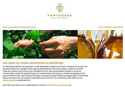 Neue Website des Weingutes Harteneck