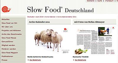 Arche Kalender 2011 von Slow Food