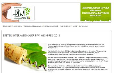 Erster Int. Piwi-Weinpreis
