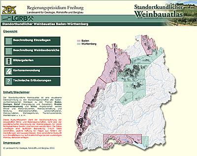 standortkundlicher Weinbauatlas Baden-Württemberg