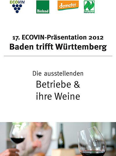 Weinkatalog der ECOVIN-Präsentation 2012