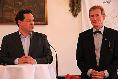 Alexander Bonde und Paulin Köpfer