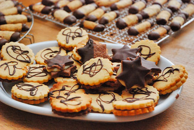 Kekse und Wein