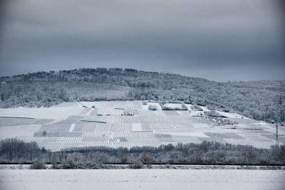 Schnee im Markgräflerland