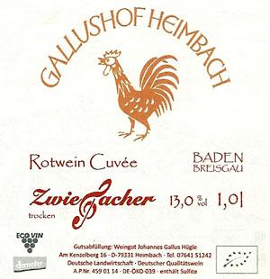Rotwein-Cuvée aus dem Weingut Gallushof