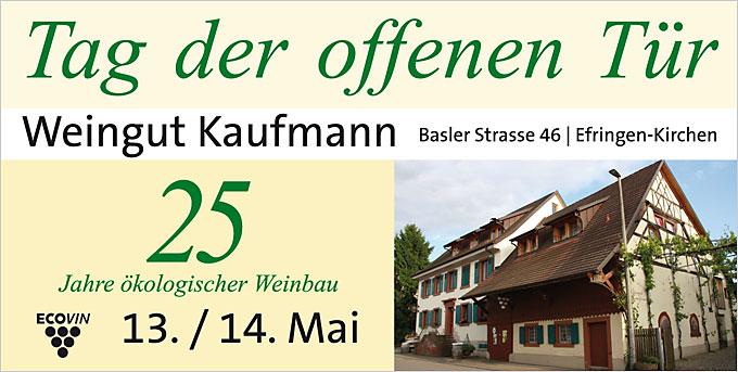 25 Jahre Ökologischen Weinbau feiert man im Bioweingut Kaufmann in Efringen-Kirchen