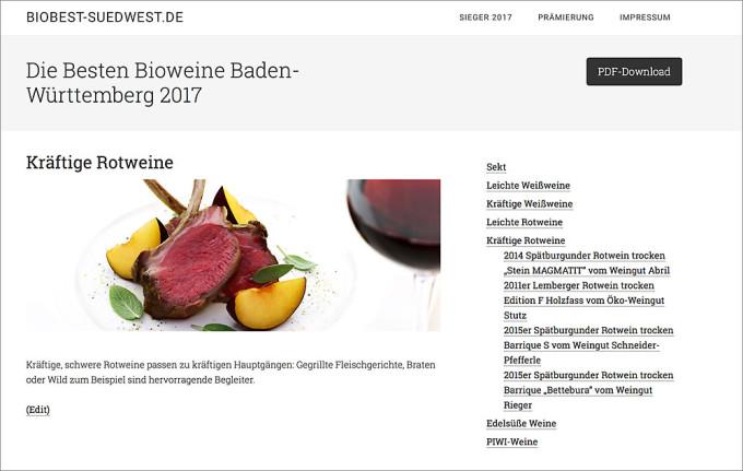 Die Besten Bioweine Baden-Württemberg 2017