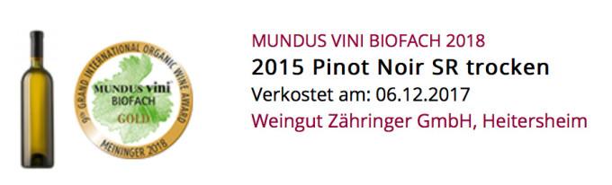Mundus Vini BioFach 2018