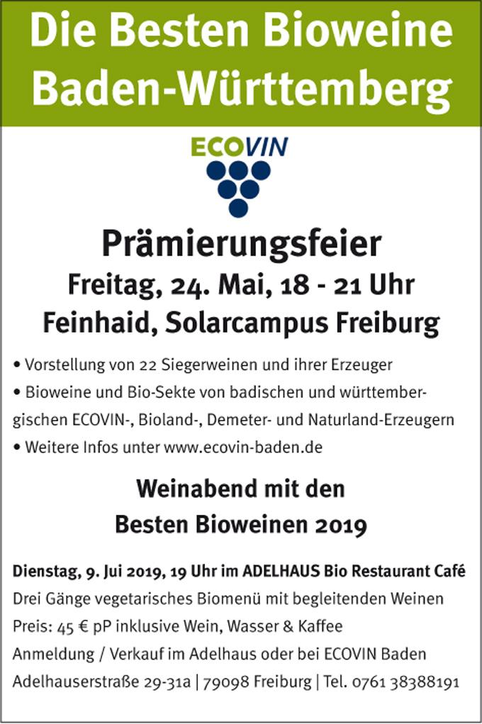 Beste Bioweine Baden-Württemberg 2019