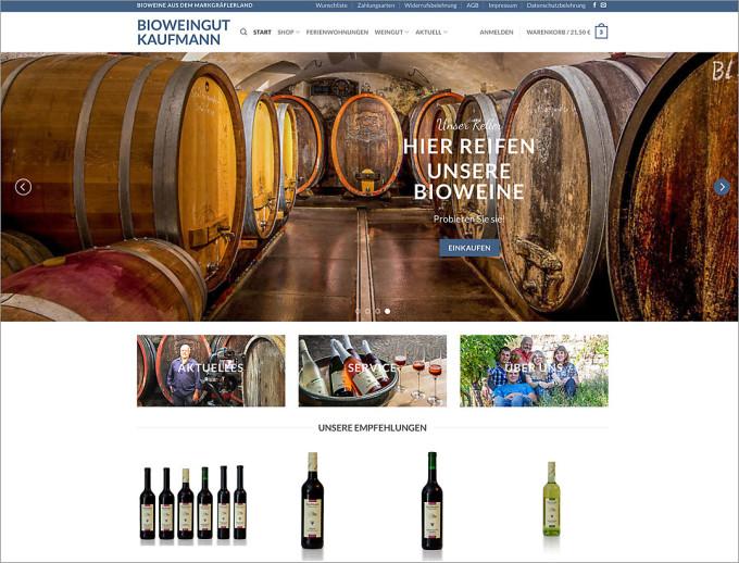 Neue Website des Bioweinguts Kaufmann