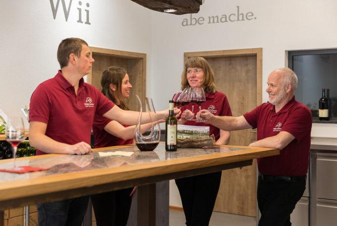 Die neue Vinothek im Weingut Kaufmann.